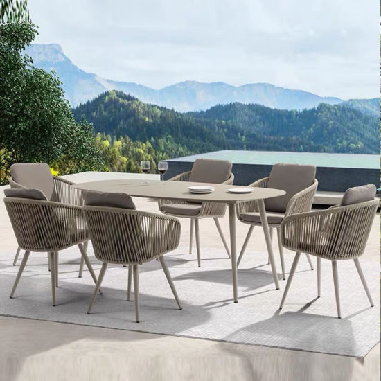 High Quality Modern Home Dining Table Set Outdoor Furniture