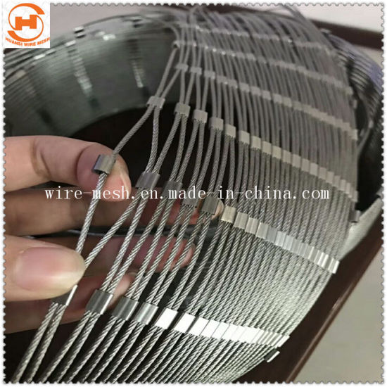 China Flexible Wire Rope Woven Mesh for Zoo Animal Cage - China Rope ...