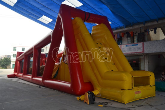 Commercial Giant Inflatable Zip Line Game for Adults Chsp282 pictures & photos
