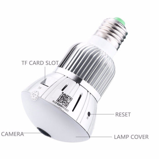 Full HD 1080P Mini Hidden WiFi IP Light Bulb Camera Motion Detection CCTV DVR pictures & photos