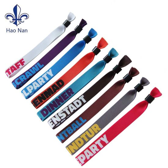 2020 New Product Polyester Sublimation Fabric Wristband for Events