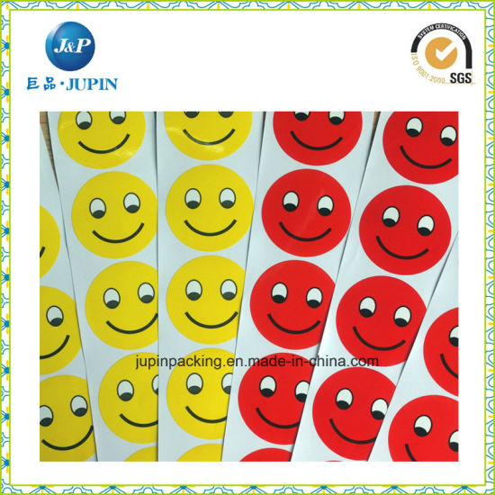 Promotion Gift Happy Face Adhesive Sticker Printing Company (JP-s040) pictures & photos