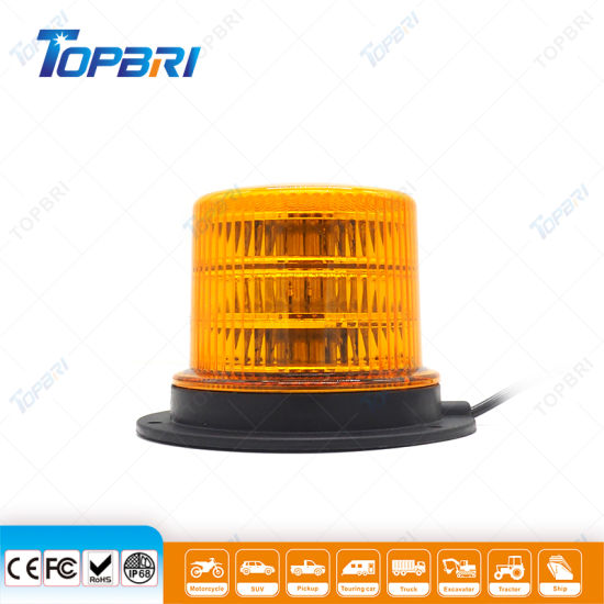 24V Red Rotating LED Beacon for Tractor Trailer Lights