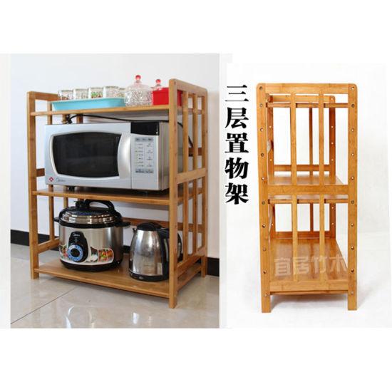 Storage Shelf Storage Rack Bamboo Microwave Oven Rack Get Latest Price