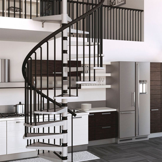Residential Loft Spiral Staircase Iron Stairs Design Unique Staircases