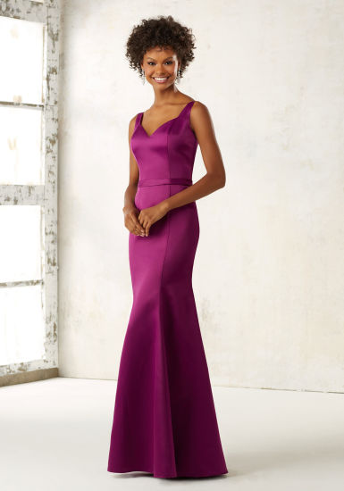 350077235928 China Purple Satin Mermaid Bridesmaid Dress - China Bridesmaid Dress ...
