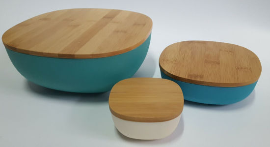 New Product Bamboo Fiber Fruit Bowl, Eco-Friendly Sala Bowl (YK-B3070) pictures & photos