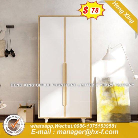 Pakistan Excellent Workmanship Double Door Wooden Wardrobe (HX-8ND9475) pictures & photos
