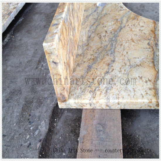 China Granite Building Material Tile (Golden flower) for Floor and Bathroom pictures & photos