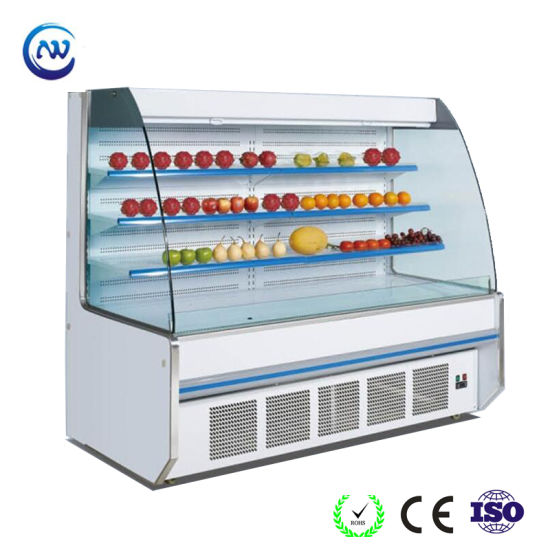 Front Open Chiller for Fruits Vegetables with Night Curtains (SBG-20) pictures & photos