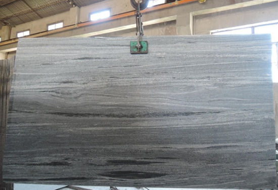 Light Grey Wood Vein Silver Serpeggiante Marble Slabs pictures & photos