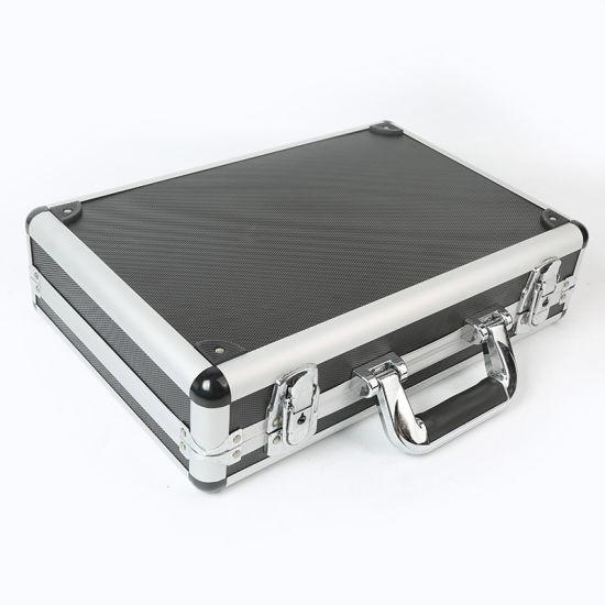 Suitcase Aluminum Cosmetic Portable Makeup Case Aluminum Tool Case