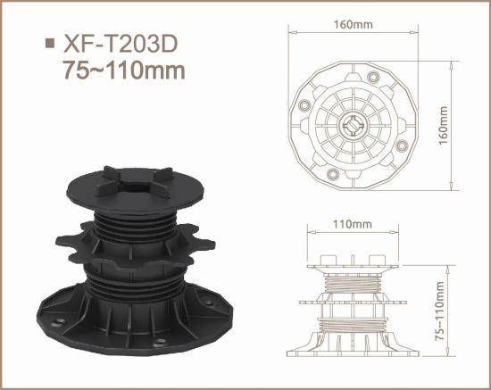 Punch-Free Installation PP Pedestals with Adjust Range 75-110mm for Slops