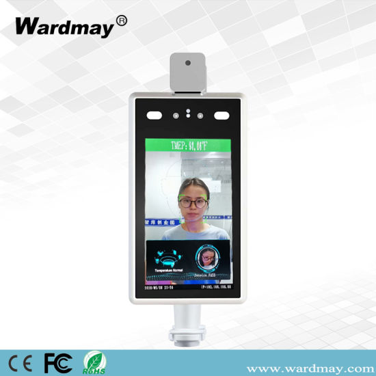 Face Recognize Access Control with Infrared Thermal Body Human Temperature Measurement Ai Analysic IP Camera with Adaptor
