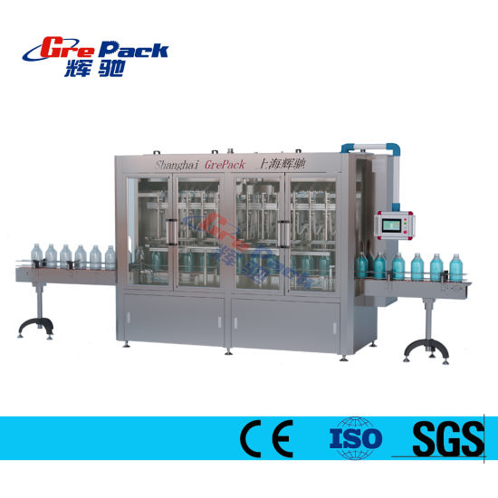 Automatic Plastic Bottle Hand Sanitizer Edible Oil/Jam/ Sauce/Liquid Soap/Peanut Butter/Ketchup Filling Packing Sealing Capping Labeling Packaging Machine