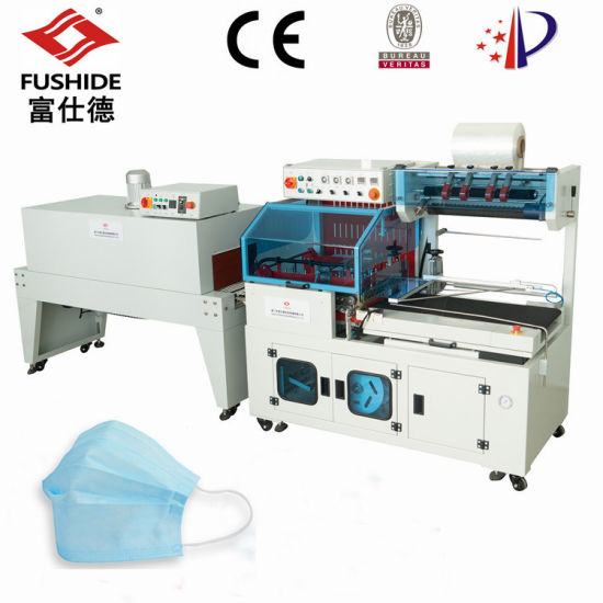 High-Efficiency Mask Automatic L Bar Sealer/Sealing POF Shrink/Shrikable Film Wrapping/Packing/Packaging Machine/Machinery Production Line