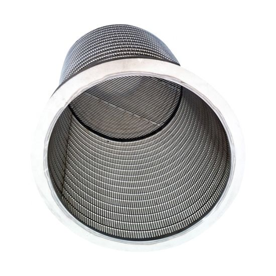 Looped or Welded Wedge Wrapped Wire Screens Cylinder for Animal Feces Separator