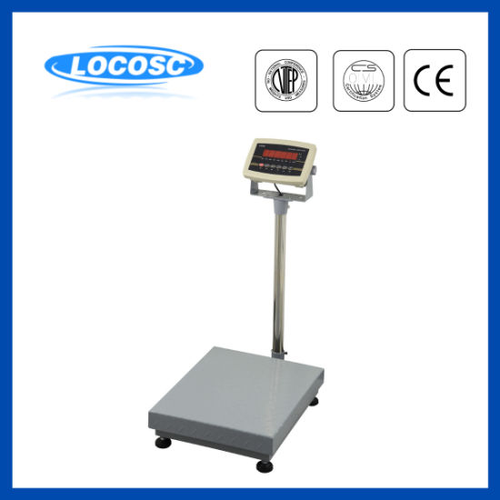 LED Display 100kg 150kg Electric Weighing Platform Scale with Printing Function