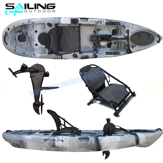 Roto-Molded 10FT Pedal System Kayak Fishing Canoe Pedals Boat Con Pedali From Manufacturer