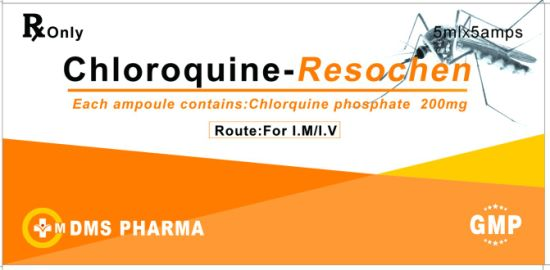 Chloroquine Phosphate Injection GMP Western Medicines Anti Malaria Injection