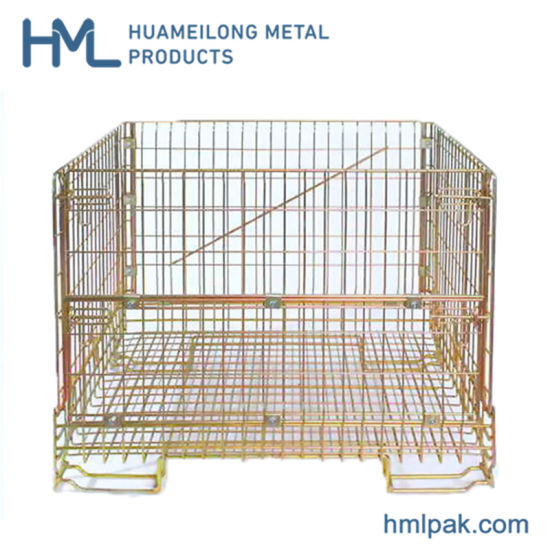 China Manufacturer Good Sales Industrial Metal Steel Wire Mesh Container