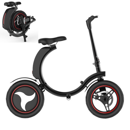 500W 14inch Full Folding Electric Bicycle, Foldable Ebike - China ...