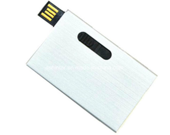 USB3.0 Sliding Aluminum Credit Card USB Flash Drive pictures & photos