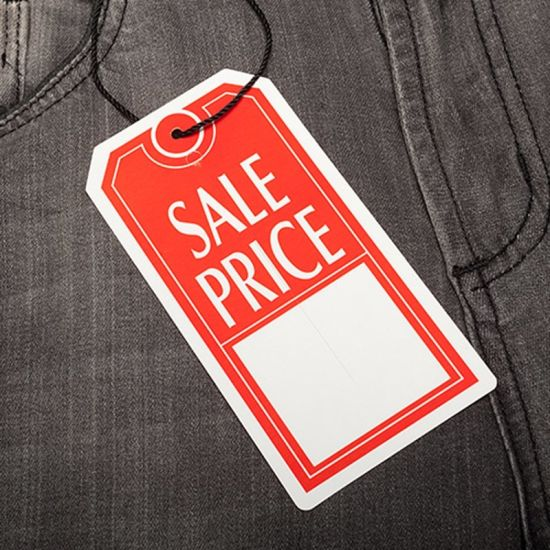 Clothing Pre Printed Price Paper Tag For Garment 5995 2
