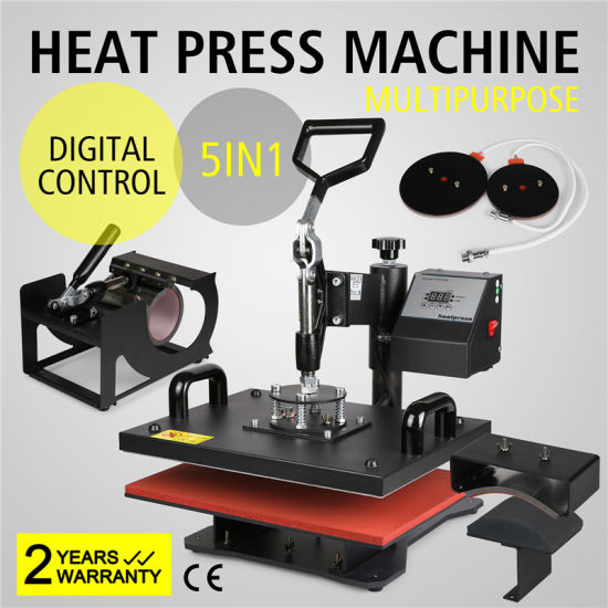 5 in 1 Digital Heat Press Machine Multifunctional Transfer Sublimation pictures & photos