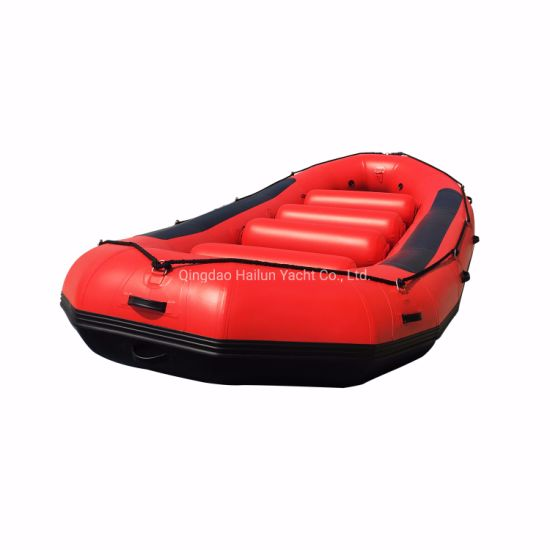 Stock Fold Ce Authenticate Optional Floor Color PVC River Rafting Boat