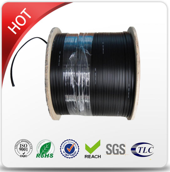 2 Core Outdoor FTTH Drop Cable with Steel Wire Strengthen pictures & photos