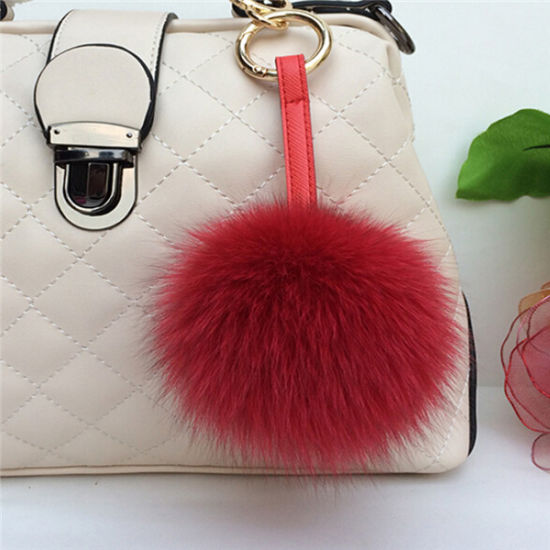 Hot Selling Fox Fur Pompom Ball for Key Chain pictures & photos