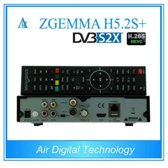 Multi-Functions Hevc/H. 265 Zgemma H5.2s Plus Multi-Stream Combo Receiver DVB-S2+DVB-S2/S2X/T2/C Triple Tuners pictures & photos