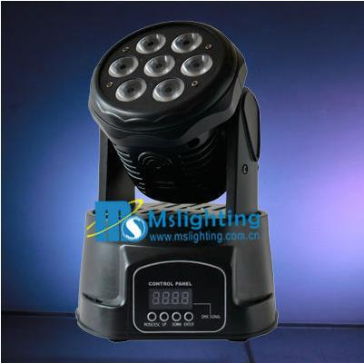 7*12W RGBW 4in1 LED Moving Head Wash Light