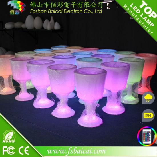 Waterproof Illuminated Plastic Cup Shaped Flower Pot