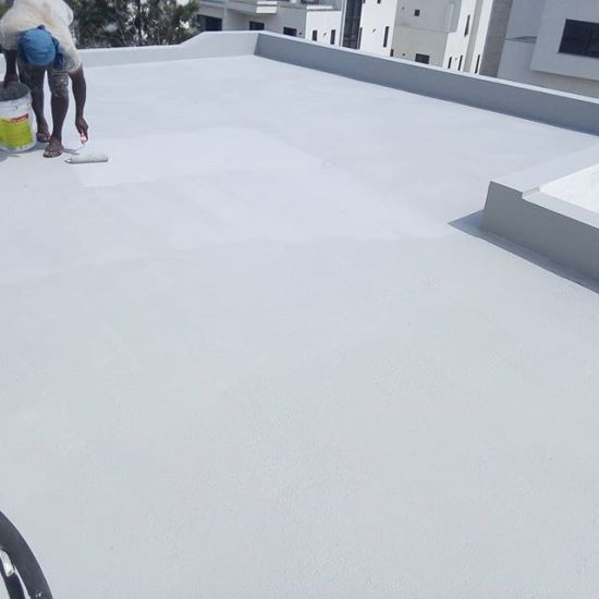 Seamless Silicone Waterproof Membrane That Withstands Permanent Ponding  Water Without Softening