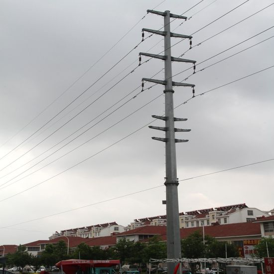 33kv ~132kv Hot DIP Galvanized Transmission Line Electric Steel Power Pole pictures & photos