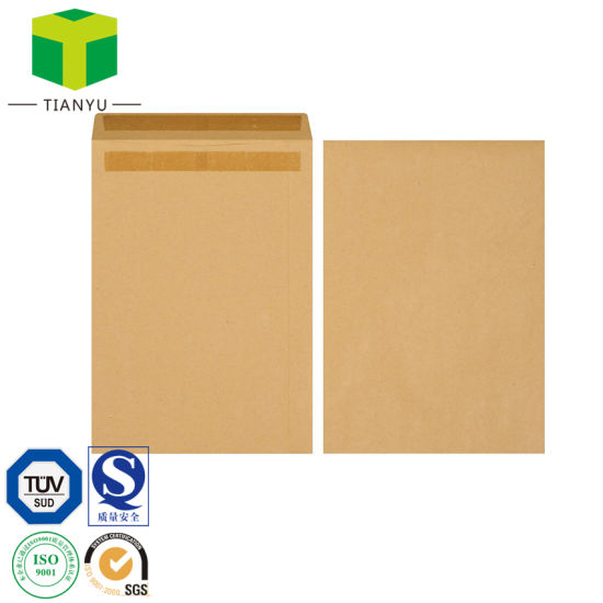 Kraft Paper Envelope Custom Peal Seal Envelope Customized Kraft Paper Mailing Packaging Bags E-Commerce Paper Bag pictures & photos