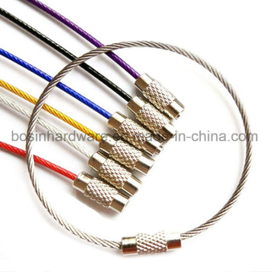 China Stainless Steel Wire Cable Key Ring - China Key Ring ...