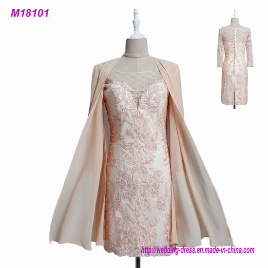 China 2017 Lace Mother of The Bride Dresses with Chiffon Jacket 3/4 ...