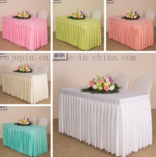 Custom Polyester Hotel Banquet Wedding Meeting Table Cloth Cover Tablecloth pictures & photos