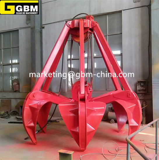 Mechanical Two Rope Mutiple Tine Clamshell Grapple Buckets