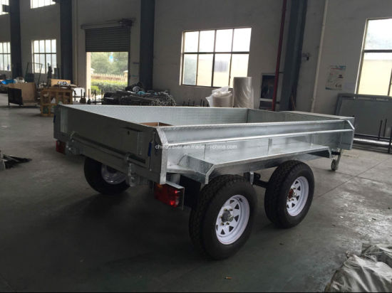 Au Standard 2 Ton Hydraulic Tipping Box Trailer pictures & photos