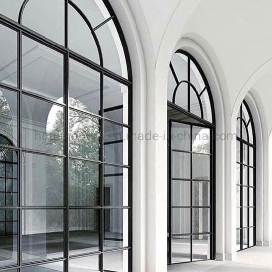 China New Church French Style Security Steel Round Glass Door Steel Grill Window Design China Steel Window And Door Steel Window With Grill Design