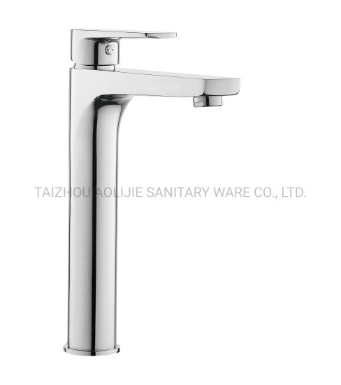 Brass Basin Faucet Tall Body with Standard Spout Bathroom Shower Mixer Hot Cold Water Tap