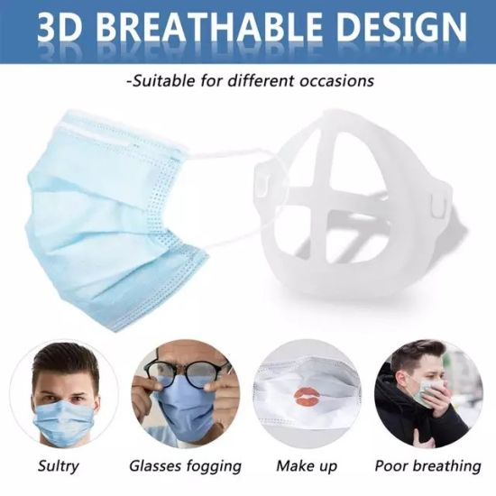 Inner Support Franme for Face Mask, Bracket for Homemade Cloth Mask, More Spac Fro Confortable Breathing Washable Reusable
