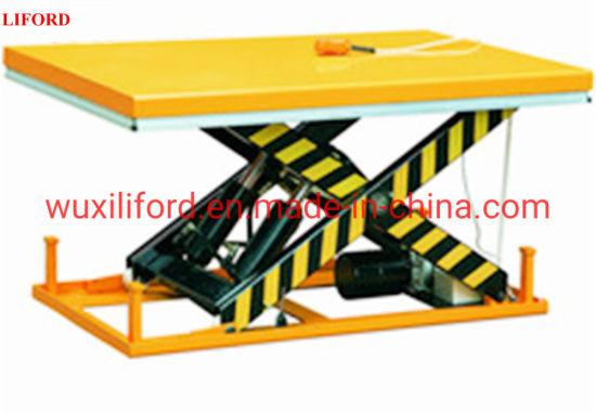 Hydraulic Basement Stationary Pallet Scissor Lift Table Elevator