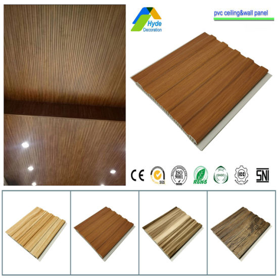 Width 200mm/250mm/300mm/400mm Laminated 3D Fireproof PVC False Ceiling Wall Board Sheet and PVC Panel