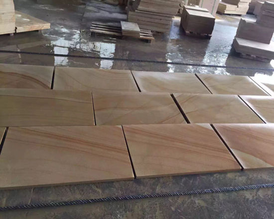 Teak Wood Sandstone Wall Cladding pictures & photos