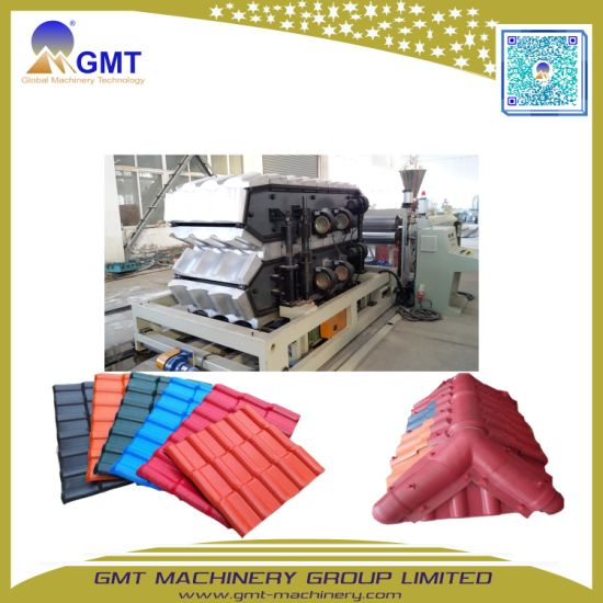 Corrugated Anti-Aging PVC Plastic Glazed Color Roof Tile Forming Extrusion Making Machine